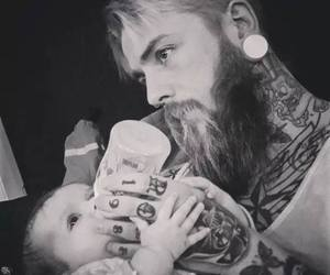 baby, beard, and bearded image
