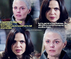 once upon a time, emma swan, and regina mills image