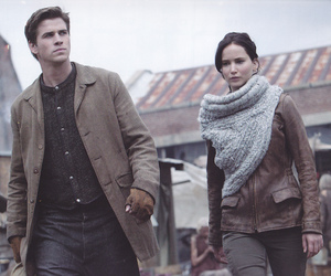 katniss, gale, and catching fire image