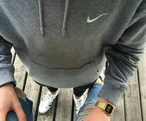 nike, couple, and boy image
