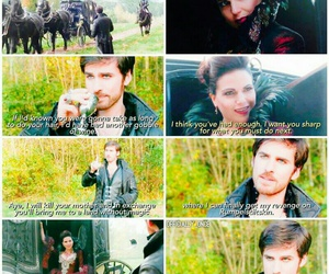 once upon a time, captain hook, and evil queen image
