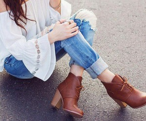 boot, boots, and jeans image