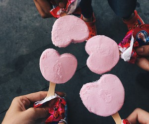 pink, heart, and ice cream image