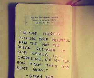 quotes, ocean, and kiss image