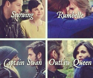 rumbelle, snowing, and captain swan image