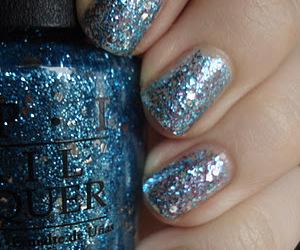 blue, gradient, and nail polish image