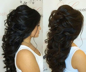 hair, Prom, and style image