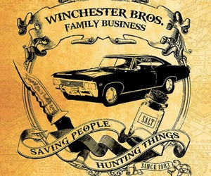 supernatural, winchester, and impala image