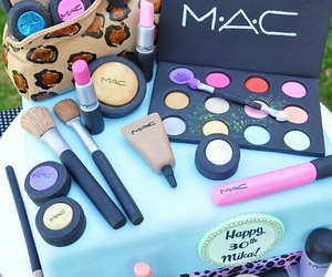 cake, mac, and makeup image