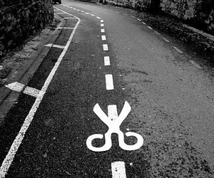 black, grunge, and road image