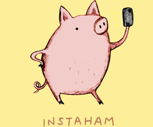 funny, ham, and pig image