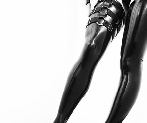 latex and goth shoe image