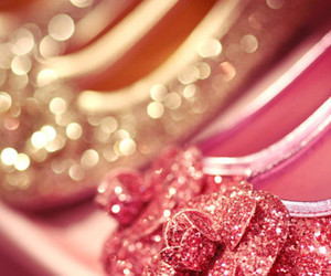 shoes, pink, and glitter image