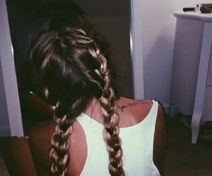 hair, braid, and grunge image
