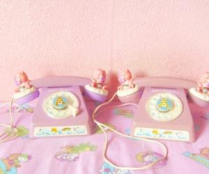phone, care bears, and telephone image