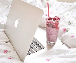 apple, laptop, and smoothie image