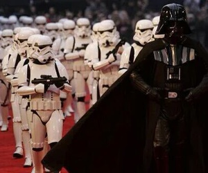 darth vader, star wars, and stormtroopers image