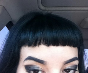 alternative, bangs, and black hair image
