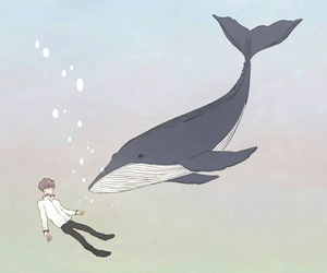 exo, fanart, and whale image