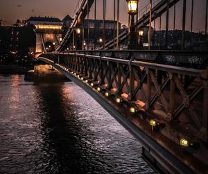 lights, bridge, and water image