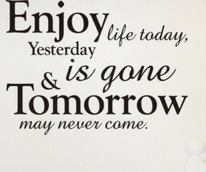 life, quotes, and enjoy image