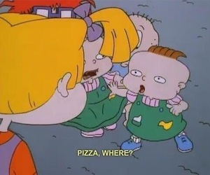 pizza, rugrats, and food image