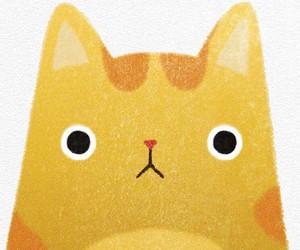 cat, dibujos, and kitten image