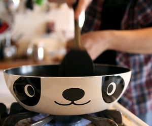 panda, cute, and cooking image