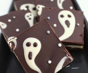 chocolate, Halloween, and food image