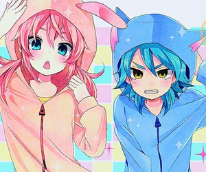 anime, kawaii, and chico y chica image