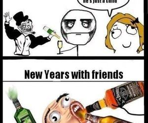 funny and new year image