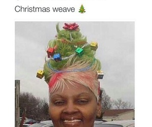 christmas, funny, and weave image