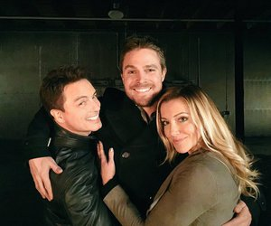 john barrowman, katie cassidy, and stephen amell image