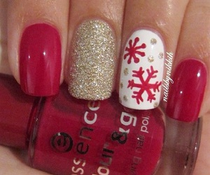 manicure and snowflake image