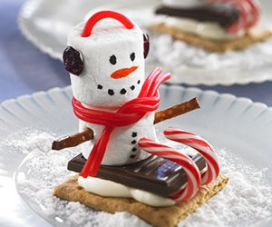 marshmallow and snowman image