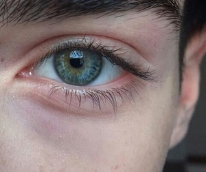 boy, eyes, and green image