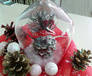 arrangements, snow, and christmass image