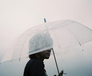 rain, grunge, and umbrella image