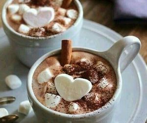 winter, drink, and heart image
