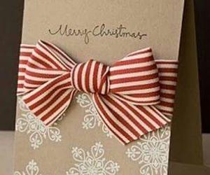 bow, card, and christmas image