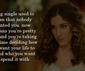 single, quotes, and sex and the city image