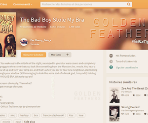 wattpad, golden feathers, and the bad boy stole my bra image