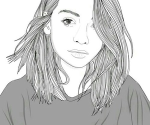 beautiful, outlines, and girl image