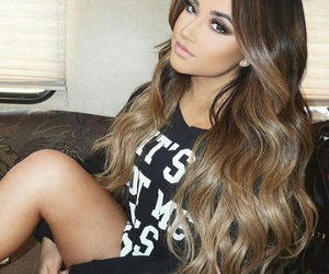gorgeous hair, flawless makeup, and becky g image