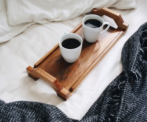 bed, coffee, and comfy image