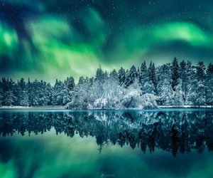 aurora borealis, northern lights, and finland image