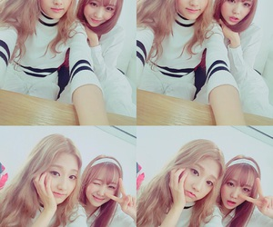 sujeong, woollim, and lovelyz yein image