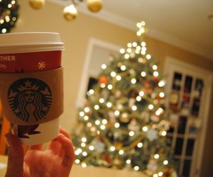 christmas, starbucks, and light image