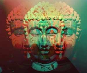 Buddha and trippy image