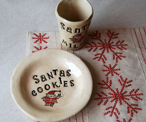christmas, plate, and santa image